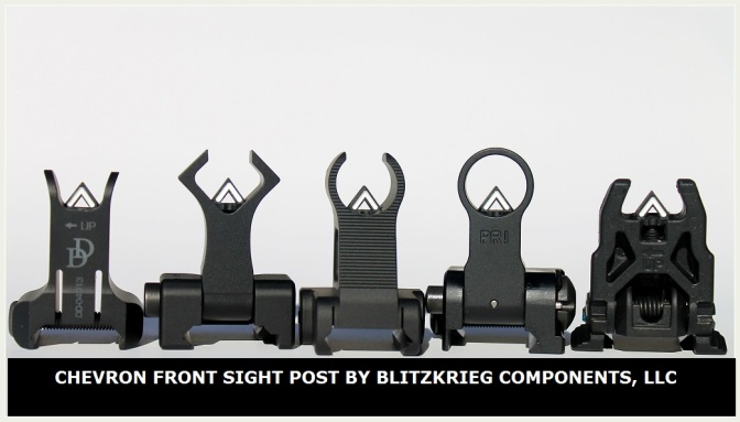 Chevron Front Sight Post by Blitzkrieg Components, LLC